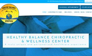 Healthy Balance Chiropractic Custom Website design