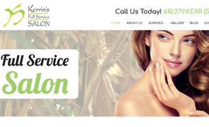 Kerrin's Full Service Salon Custom Website design