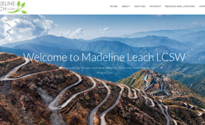 Madeline Leach LCSW Custom Website design