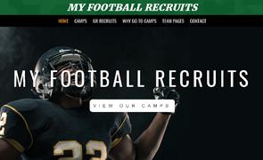 My Football Recruits Custom Website design