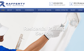 Rafferty Painting & Power Washing Custom Website design