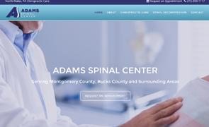 Adams Spinal Center Website design