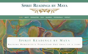 Spirit Reading by Maya Website design